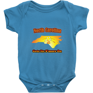 North Carolina Gets Its S'more On! Novelty Infant One-Piece Baby Bodysuit - CampWildRide.com