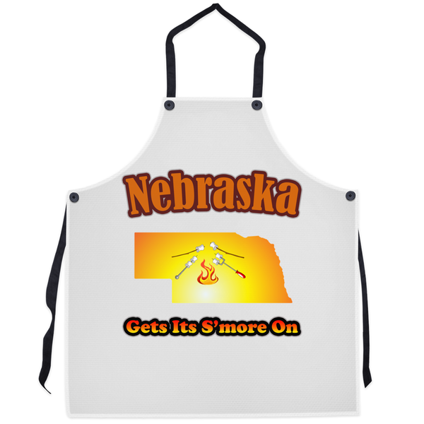Nebraska Gets Its S'more On! Novelty Funny Apron