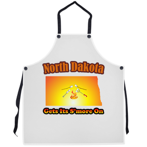 North Dakota Gets Its S'more On! Novelty Funny Apron - CampWildRide.com