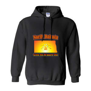 North Dakota Gets Its S'more On! Novelty Hoodies (No-Zip/Pullover) - CampWildRide.com
