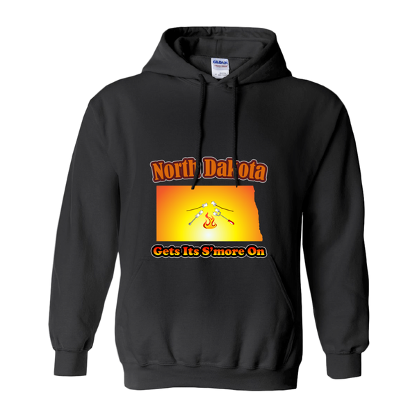North Dakota Gets Its S'more On! Novelty Hoodies (No-Zip/Pullover)