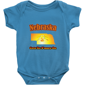 Nebraska Gets Its S'more On! Novelty Infant One-Piece Baby Bodysuit