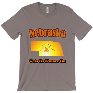 Nebraska Gets Its S'more On! Novelty Short Sleeve T-Shirt - CampWildRide.com