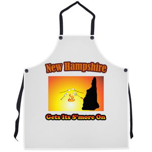 New Hampshire Gets Its S'more On! Novelty Funny Apron - CampWildRide.com