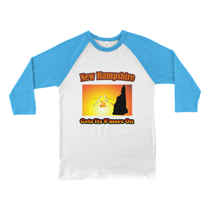 New Hampshire Gets Its S'more On! Novelty Baseball Tee (3/4 sleeves) - CampWildRide.com