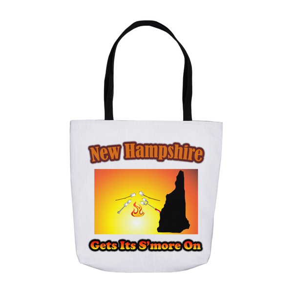New Hampshire Gets Its S'more On! Novelty Funny Tote Bag Reusable