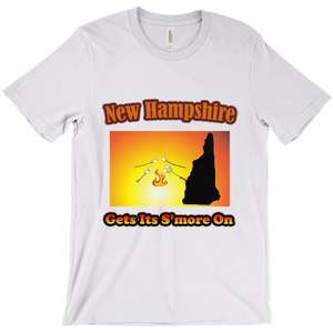 New Hampshire Gets Its S'more On! Novelty Short Sleeve T-Shirt