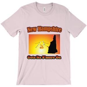 New Hampshire Gets Its S'more On! Novelty Short Sleeve T-Shirt - CampWildRide.com