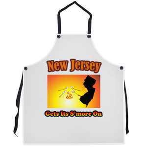 New Jersey Gets Its S'more On! Novelty Funny Apron - CampWildRide.com