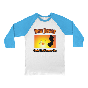New Jersey Gets Its S'more On! Novelty Baseball Tee (3/4 sleeves)