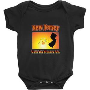 New Jersey Gets Its S'more On! Novelty Infant One-Piece Baby Bodysuit - CampWildRide.com