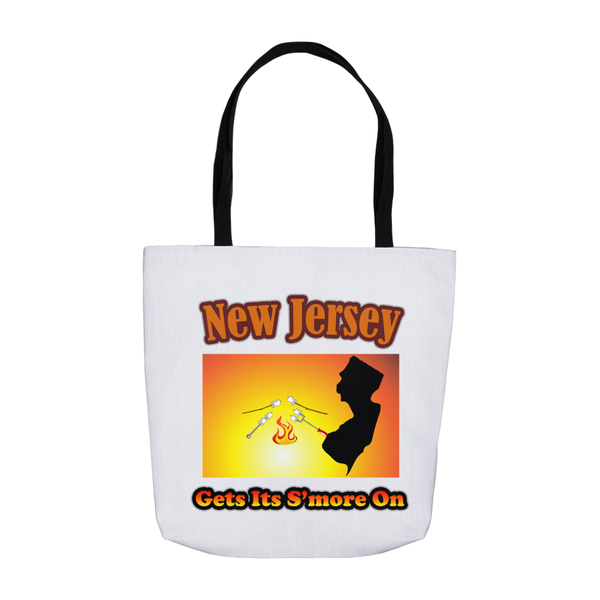 New Jersey Gets Its S'more On! Novelty Funny Tote Bag Reusable - CampWildRide.com