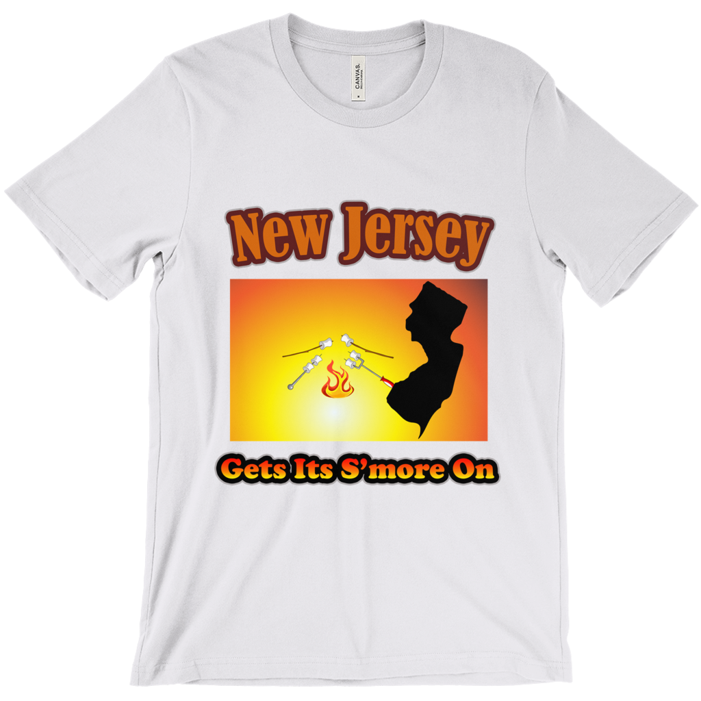 New Jersey Gets Its S'more On! Novelty Short Sleeve T-Shirt - CampWildRide.com