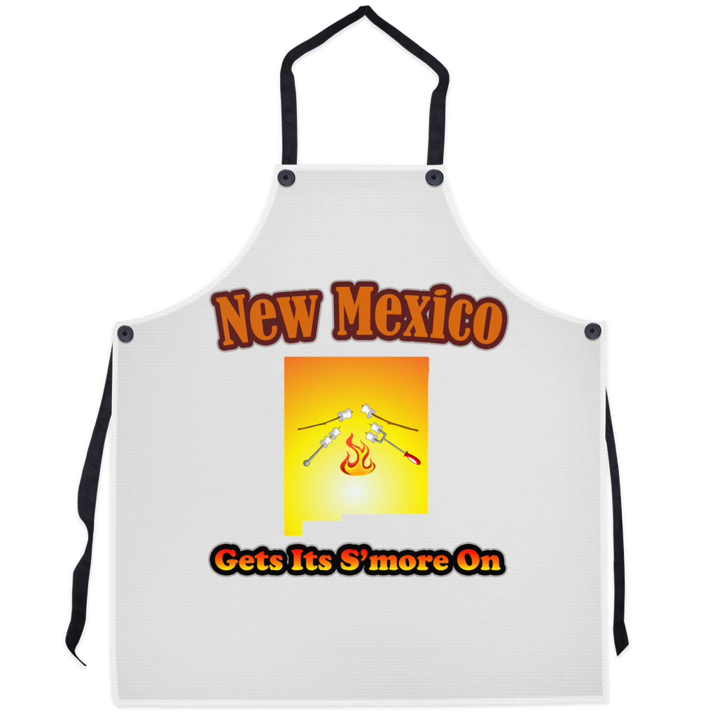 New Mexico Gets Its S'more On! Novelty Funny Apron - CampWildRide.com