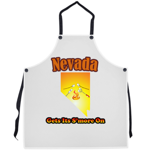 Nevada Gets Its S'more On! Novelty Funny Apron - CampWildRide.com