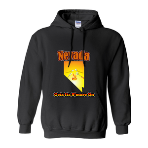 Nevada Gets Its S'more On! Novelty Hoodies (No-Zip/Pullover) - CampWildRide.com