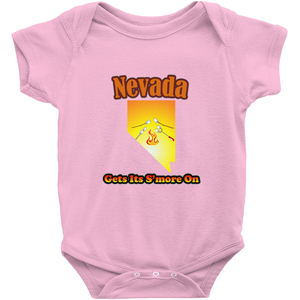Nevada Gets Its S'more On! Novelty Infant One-Piece Baby Bodysuit