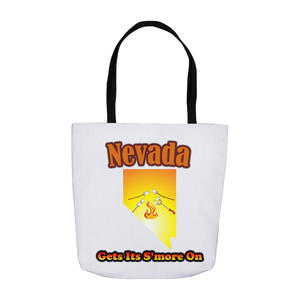 Nevada Gets Its S'more On! Novelty Funny Tote Bag Reusable - CampWildRide.com