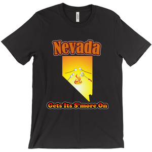 Nevada Gets Its S'more On! Novelty Short Sleeve T-Shirt - CampWildRide.com