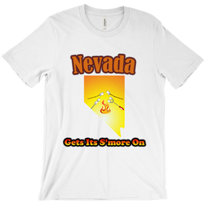 Nevada Gets Its S'more On! Novelty Short Sleeve T-Shirt