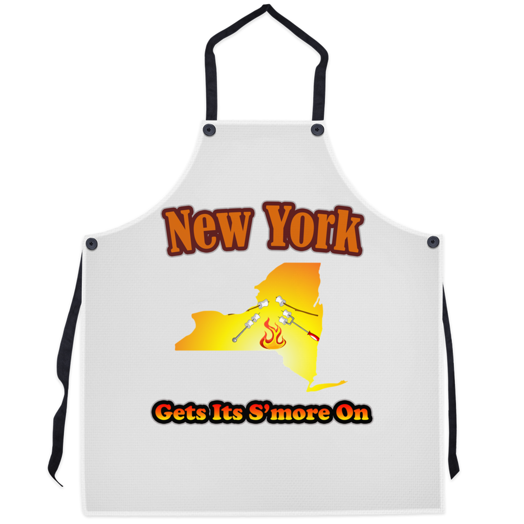 New York Gets Its S'more On! Novelty Funny Apron - CampWildRide.com