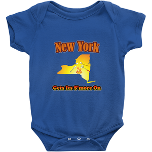 New York Gets Its S'more On! Novelty Infant One-Piece Baby Bodysuit - CampWildRide.com
