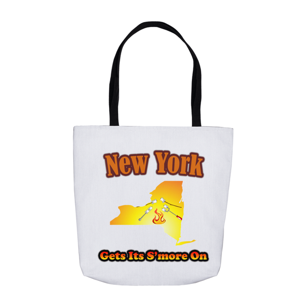 New York Gets Its S'more On! Novelty Funny Tote Bag Reusable
