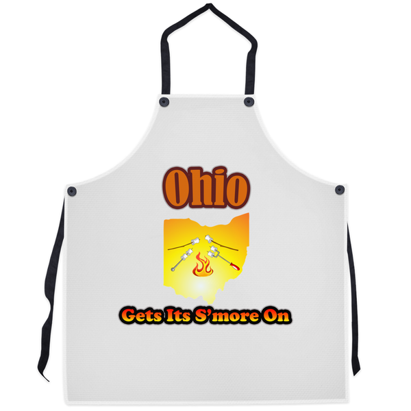 Ohio Gets Its S'more On! Novelty Funny Apron - CampWildRide.com