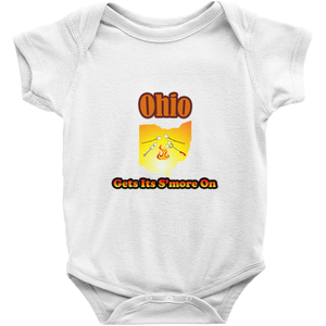 Ohio Gets Its S'more On! Novelty Infant One-Piece Baby Bodysuit