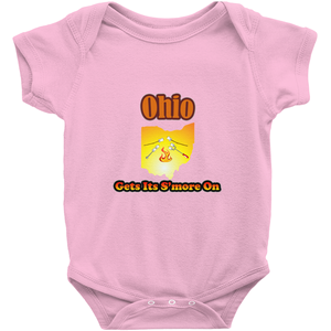 Ohio Gets Its S'more On! Novelty Infant One-Piece Baby Bodysuit - CampWildRide.com