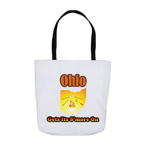 Ohio Gets Its S'more On! Novelty Funny Tote Bag Reusable - CampWildRide.com