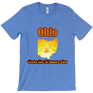 Ohio Gets Its S'more On! Novelty Short Sleeve T-Shirt