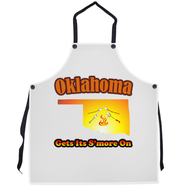 Oklahoma Gets Its S'more On! Novelty Funny Apron - CampWildRide.com