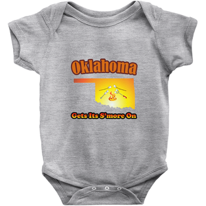 Oklahoma Gets Its S'more On! Novelty Infant One-Piece Baby Bodysuit