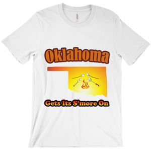 Oklahoma Gets Its S'more On! Novelty Short Sleeve T-Shirt - CampWildRide.com
