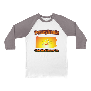Pennsylvania Gets Its S'more On! Novelty Baseball Tee (3/4 sleeves) - CampWildRide.com