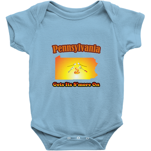 Pennsylvania Gets Its S'more On! Novelty Infant One-Piece Baby Bodysuit - CampWildRide.com