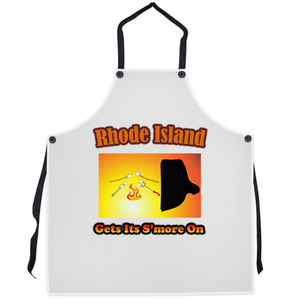 Rhode Island Gets Its S'more On! Novelty Funny Apron - CampWildRide.com