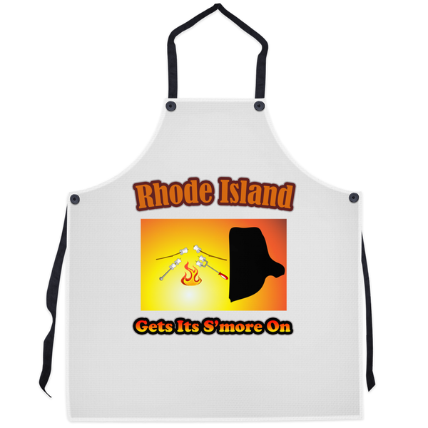 Rhode Island Gets Its S'more On! Novelty Funny Apron
