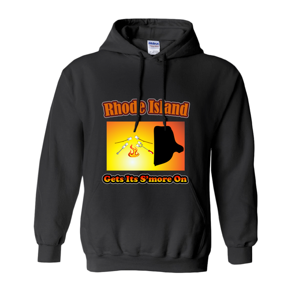 Rhode Island Gets Its S'more On! Novelty Hoodies (No-Zip/Pullover)