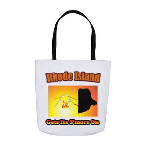 Rhode Island Gets Its S'more On! Novelty Funny Tote Bag Reusable - CampWildRide.com