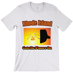 Rhode Island Gets Its S'more On! Novelty Short Sleeve T-Shirt - CampWildRide.com