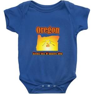 Oregon Gets Its S'more On! Novelty Infant One-Piece Baby Bodysuit - CampWildRide.com
