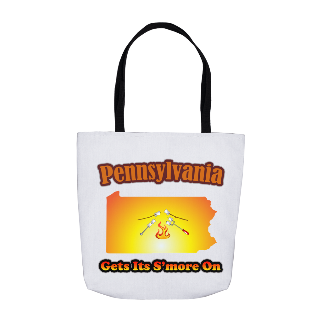 Pennsylvania Gets Its S'more On! Novelty Funny Tote Bag Reusable - CampWildRide.com