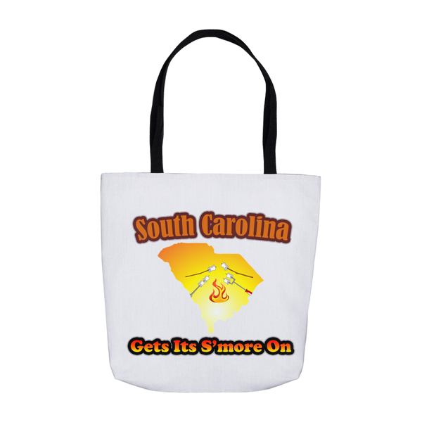 South Carolina Gets Its S'more On! Novelty Funny Tote Bag Reusable