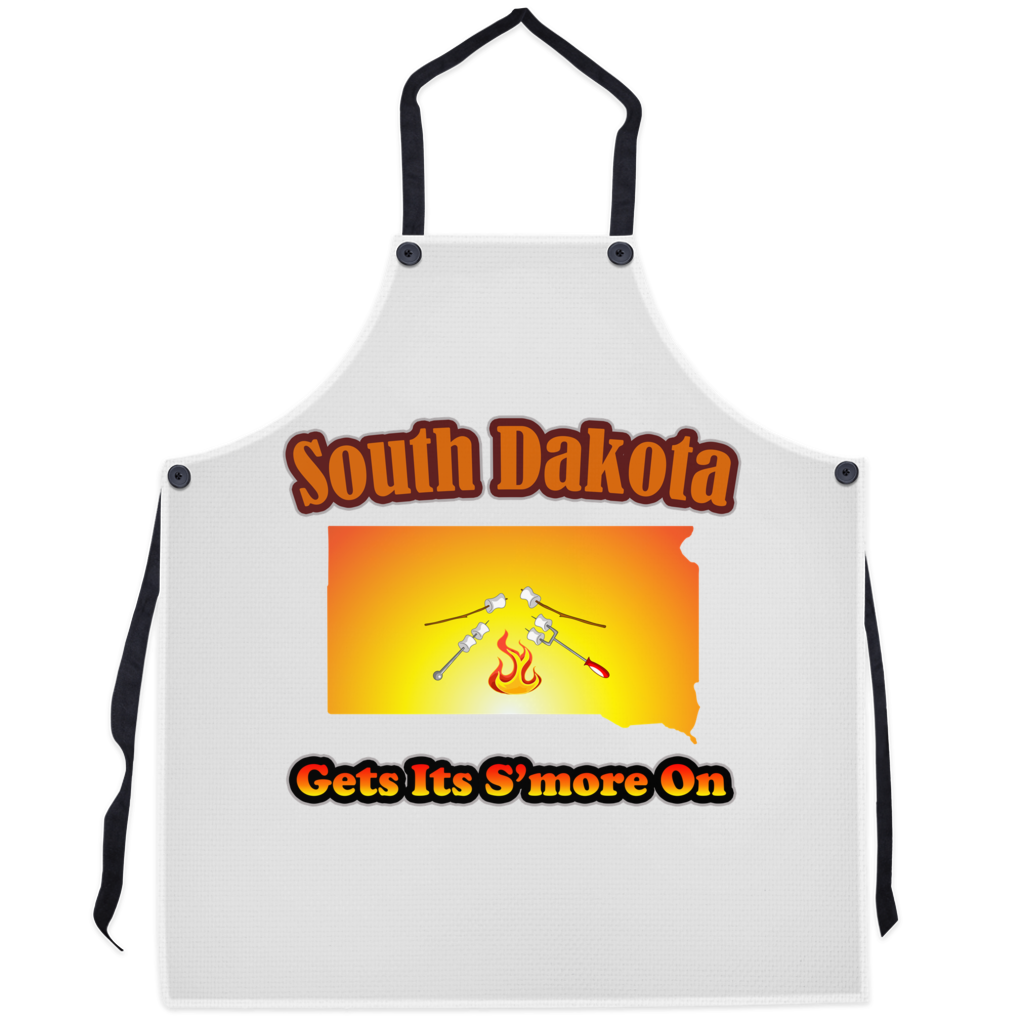 South Dakota Gets Its S'more On! Novelty Funny Apron - CampWildRide.com
