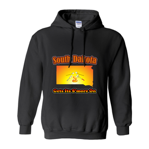 South Dakota Gets Its S'more On! Novelty Hoodies (No-Zip/Pullover) - CampWildRide.com