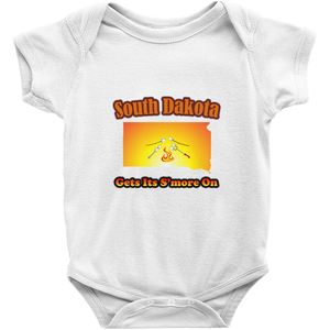 South Dakota Gets Its S'more On! Novelty Infant One-Piece Baby Bodysuit - CampWildRide.com
