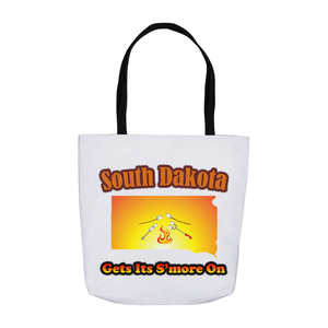 South Dakota Gets Its S'more On! Novelty Funny Tote Bag Reusable
