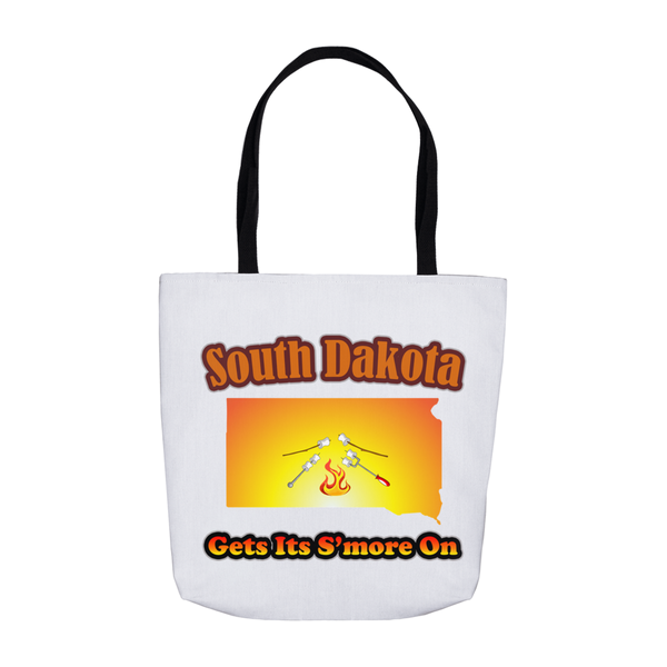 South Dakota Gets Its S'more On! Novelty Funny Tote Bag Reusable - CampWildRide.com